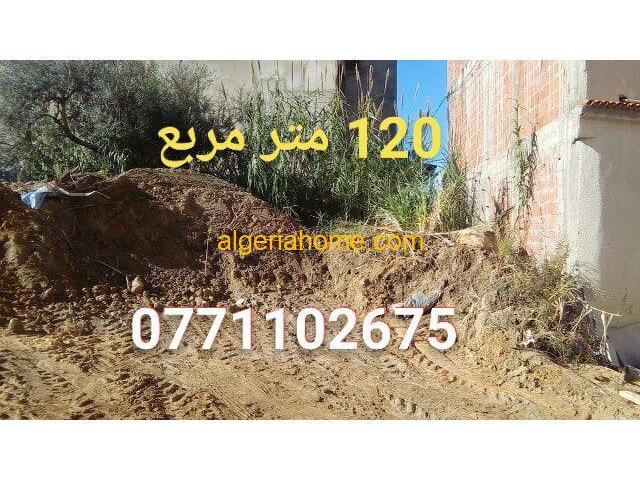 A vendre un terrain120 mètres carrés sotué a ouled Bunar Jijel
