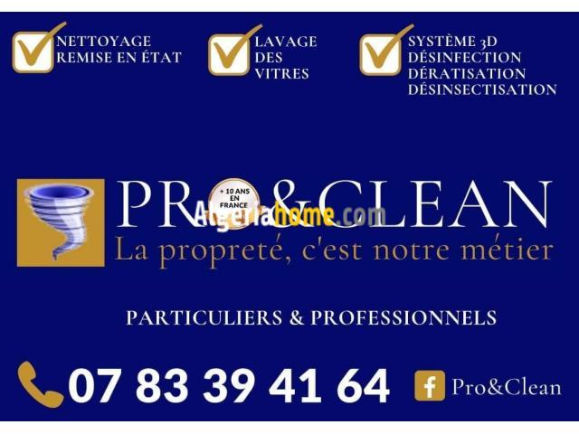 Société de nettoyage PRO&amp CLEAN