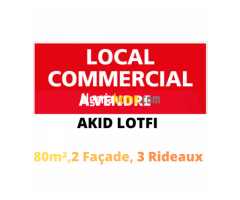 Vente local Akid lotfi a proximité de polyclinique