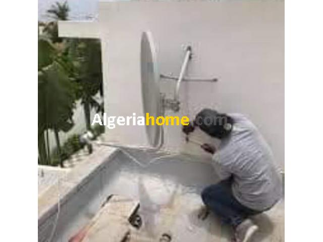 Installation des antennes parabolique