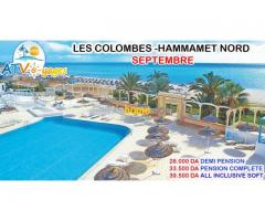 PROMOTION HOTEL LES COLOMBES SEPTEMBRE